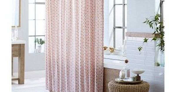 Shapes Shower Curtain Peach Threshold Adult Unisex Blue