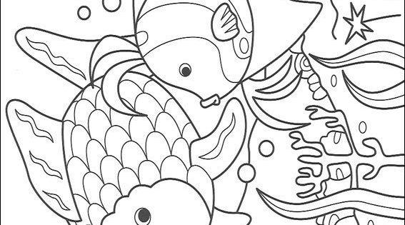 kleurplaat Mooiste vis van de zee kleurplatencoloring