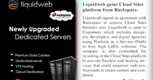 Liquidweb Signed An Agreement With Rackspace To Acquire Cloud