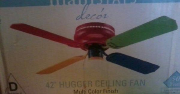 42 Hugger Ceiling Fan With Multi Color Finnishing Ebay