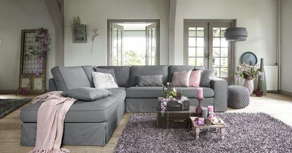 Velice hoekbank met chaise longe hoek banken pinterest met couch sofa and interior styling - Plaid voor sofa met hoek ...