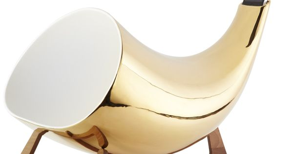 Gold Megaphone amplifies your existing iPhone speaker - much prettier than a