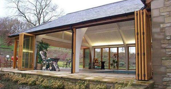 baie vitr e pliante en bois sf65 sunflex aluminiumsysteme fen tre sur campagne pinterest. Black Bedroom Furniture Sets. Home Design Ideas
