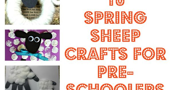10 Spring Sheep Crafts For Pre-schoolers (3x$500 Giveaway