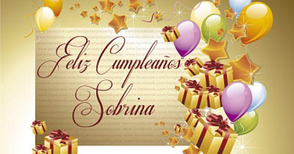 Feliz Aniversario Tia Espanol: FELIZ CUMPLEAÑOS SOBRINA