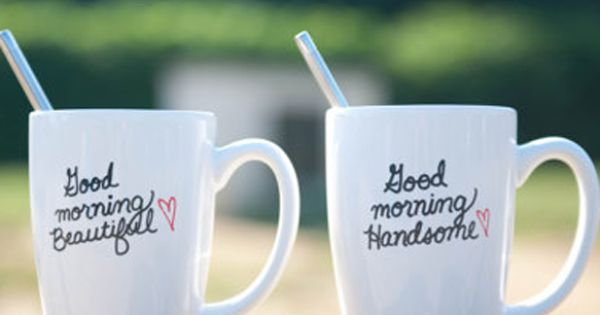 His and Hers Coffee Mug. Good Morning Beautiful