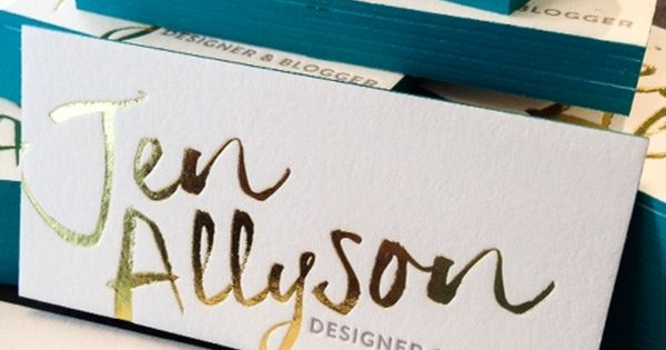 We love the gold look of these business cards goldfoil businesscards