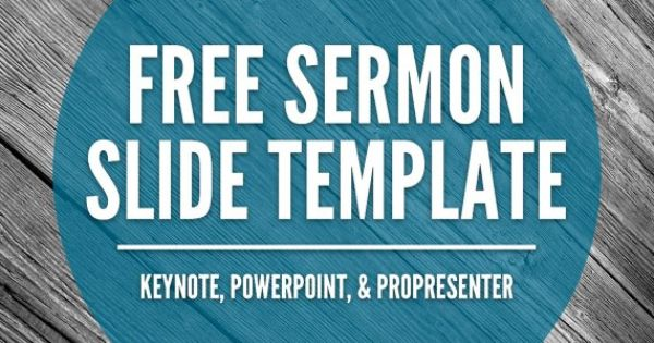 Free Sermon Slide Templates (Keynote, PowerPoint, & ProPresenter ...