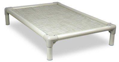 Kuranda Almond Pvc Chewproof Dog Bed Large 40 25 Vinyl Weave Birch Forest Dog Bed Large Kuranda Dog Beds Dog Bed