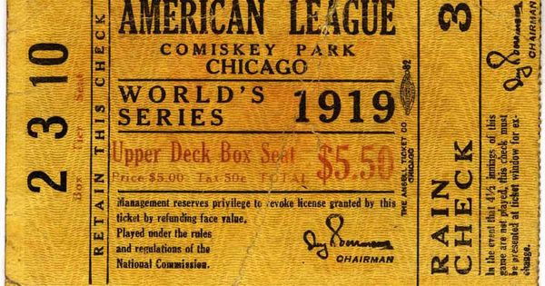 1919 world series thesis statement The 1919 world series was the first national championship after the war, and baseball and the nation were eager to get back to regular life.