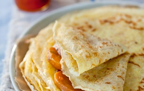 Crepes with Honey Lavender Roasted Persimmons | Champions ...