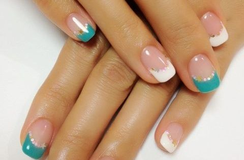 I think I would do one colored accent nail instead - http://yournailart.com/i-think-i-would-do-one-colored-accent-nail-instead/