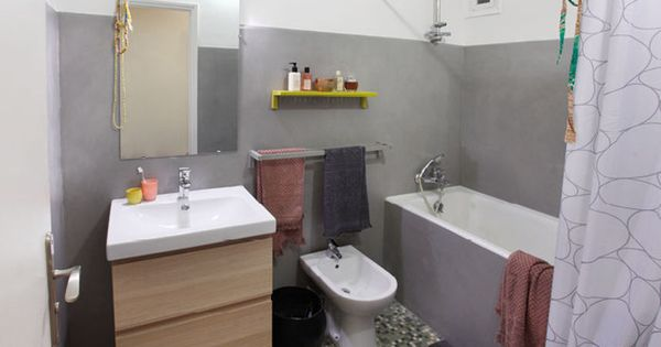 Masqu 39 carrelage salle de bain apr s gris urbain masqu for Peindre du carrelage douche