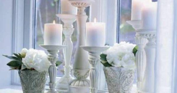 sch ne wohnideen fensterbank deko kerzen pflanzen deko. Black Bedroom Furniture Sets. Home Design Ideas