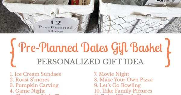 12 Months Of Dates Wedding Gift: Give The Gift Of Pre-planned Dates