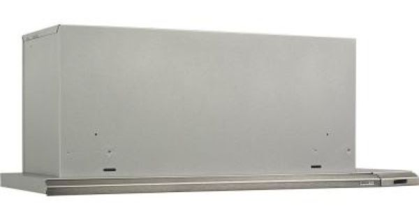 Broan Nutone Elite 15000 Silhouette 36 In Under Cabinet Slide Out Range Hood With Light In Brushed Aluminum 153604 The Home Depot Broan Stainless Range Hood Range Hood