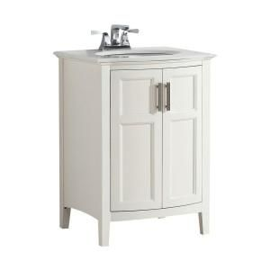 Simpli Home Winston Rounded Front 24 In Bath Vanity In Soft White