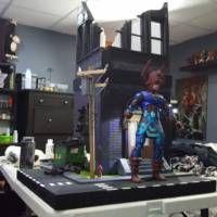 Street And Buildings 1 12 Scale Marvel Legends Custom Diorama Playset Marvel Legends Custom Diorama Marvel Legends