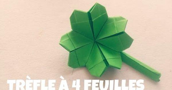 origami facile tr fle quatre feuilles youtube. Black Bedroom Furniture Sets. Home Design Ideas