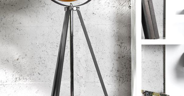 moderne design stehlampe studio schwarz gold lampe blattgold bei lampen. Black Bedroom Furniture Sets. Home Design Ideas