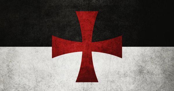 TEMPLAR FLAG -- their battle flag, the Beauseant, a simple ...