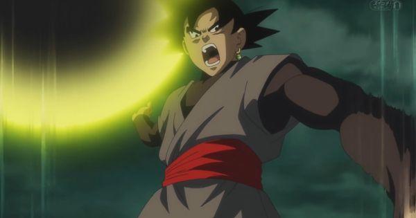 Black Goku yellow ener...