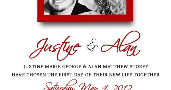 Red And Black Wedding Invitations Templates: Wedding Invitations Template
