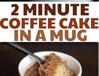 Coffee Cake In A Mug Recipes: (2 Minute) Coffee Cake In A Mug