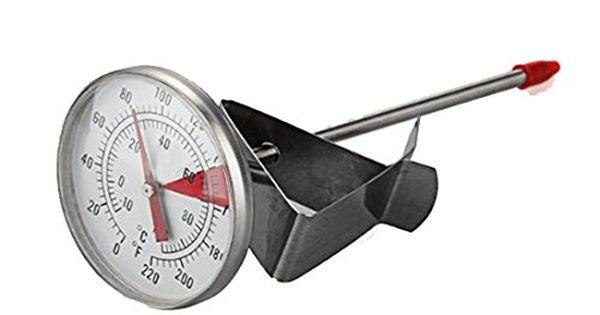 K  che Edelstahl 100    C Sonde Thermometer Messger?t Kochen - küche schwarz weiß