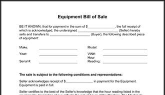 Printable Sample Equipment Bill Of Sale Template Form Wedding Photography Contract Template Bill Of Sale Template Free Basic Templates