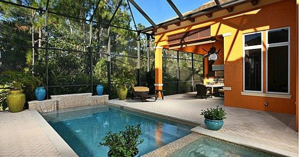 Screened In Pool In Florida Pools Pinterest Screens Backyard And Hot Tubs