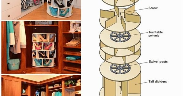how to make a lazy susan shoe rack