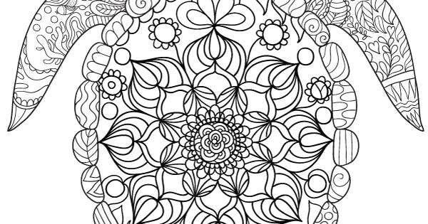 free printable sea turtle adult coloring page download it in pdf format at http. Black Bedroom Furniture Sets. Home Design Ideas