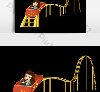 Cartoon Children S Day Amusement Park Roller Coaster Hand Drawn Elements Png Images Psd Free Download Pikbest Child Day How To Draw Hands Cartoon