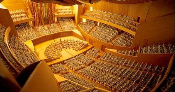 Walt Disney Concert Hall Interior Better Known As My Practice Room Concert Hall Disney Hall Walt Disney Concert Hall