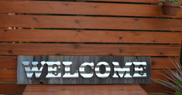 Welcome Sign Reclaimed Wood Welcome Sign Reclaimed Barn