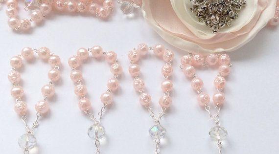 30 pcs Angel Pink Pearl First communion favors Recuerditos Bautizo 30pz/ Mini