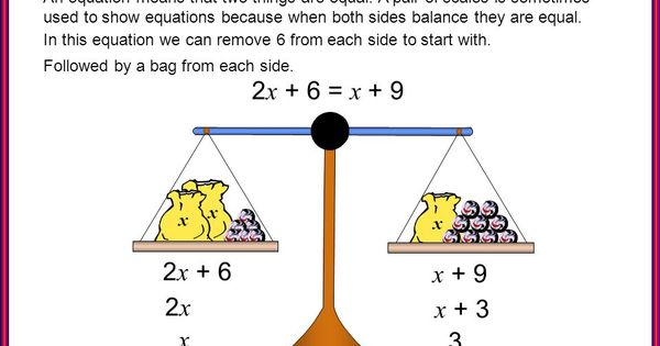 Pin On Ecuaciones Algebra solve for x worksheets