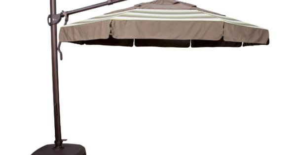 Treasure Garden 11 Ft Obravia Cantilever Offset Patio Umbrella With Base With Images Large Outdoor Umbrella Patio Umbrella Offset Patio Umbrella