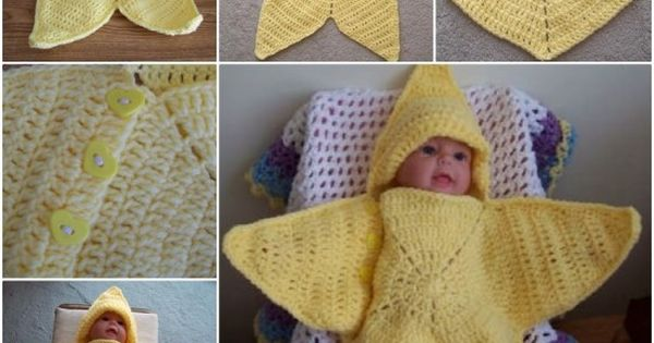 Baby Star Wrap Blanket Is Very Easy To Make Crochet