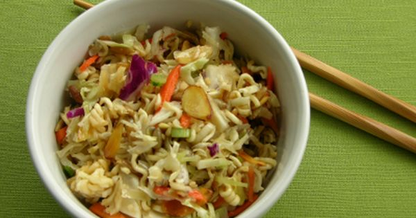a side dish made with ramen noodles cole slaw mix