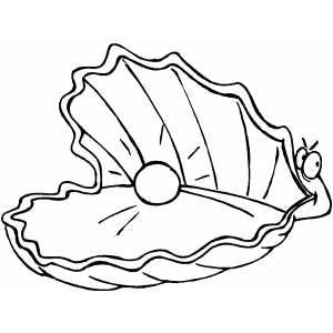 Oyster With Pearl Coloring Pages Bible Coloring Pages Oyster Pearl