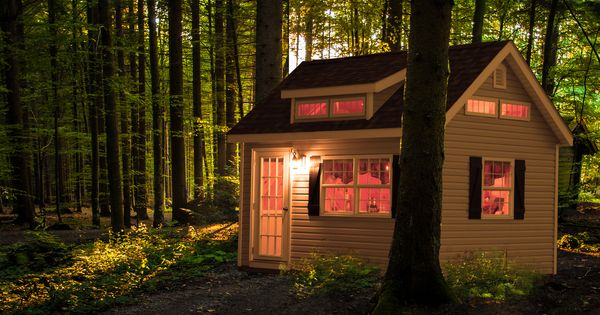 Modular Prebuilt Garages For Sale From Lancaster Pa: A Small Cabin For Tiny Living. Buy This Small Finished