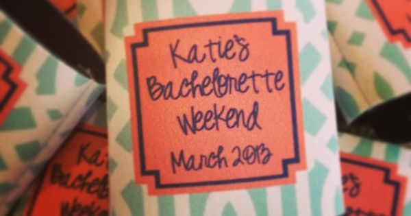 bachelorette weekend koozies from haymarket designs--- this place has some seriously awesome