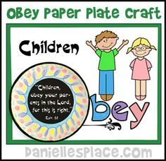 Paper Plate Craft Obey Your Parents Bible Craft From Www