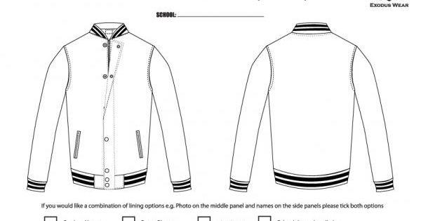 Baseball Jacket Template - JacketIn