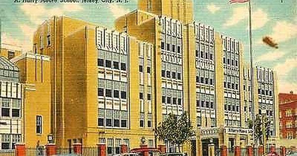 Jersey City New Jersey Nj 1940 Harry Moore School Antique Vintage Line Moodys Vintage Postcards Jersey City Menlo Park Mall Postcard