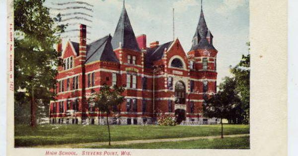 1909 Stevens Point Highschool Wisconsin Travel Stevens Point
