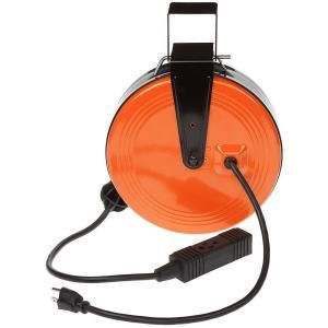 Hdx 30 Ft 16 3 Heavy Duty Retractable Extension Cord Reel With 3