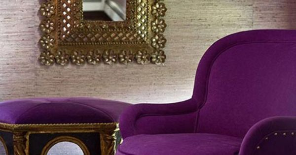 Purple Chair And Ottoman Different Furniture Pieces